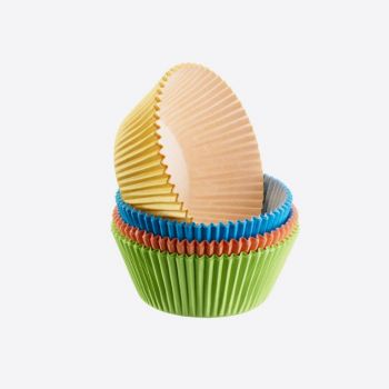 Westmark set of 80 paper muffin baking cups yellow; green; red and orange ø 5cm H 3.2cm