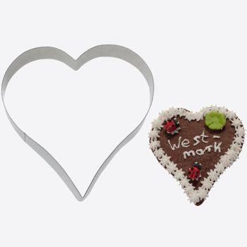 Westmark stainless steel cookie cutter heart 12.2x11.6x2.2cm