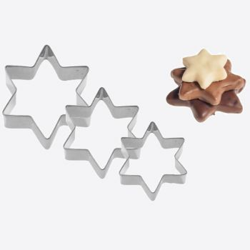 Westmark set of 3 stainless steel cookie cutters star 4; 5 and 6cm