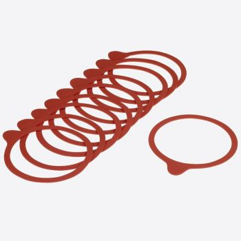 Westmark set of 10 replacement rubber seals for jars Ø 9.4cm