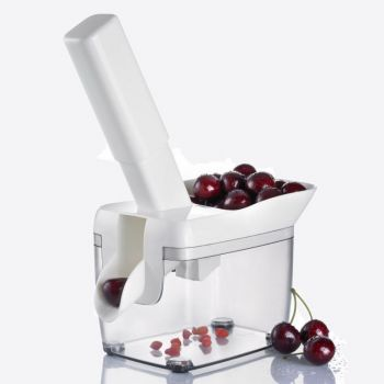 Westmark Kernfix cherry stoner with container in plastic and stainless steel white 20.5x11.8x30cm