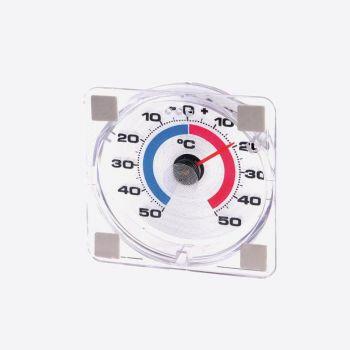 Westmark raamthermometer uit kunststof wit 7.6x7.6x2.3cm