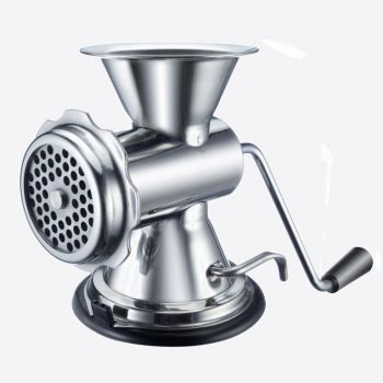 Westmark meat grinder in stainless steel and plastic with suction size 8