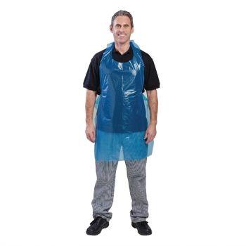 Disposable polyethyleen halterschorten blauw