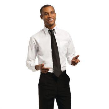 Uniform Works unisex overhemd lange mouw wit M