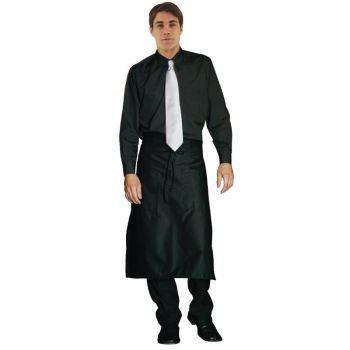 Uniform Works unisex overhemd lange mouw zwart M