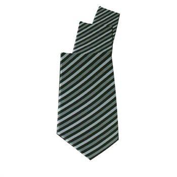 Uniform Works stropdas grijs gestreept