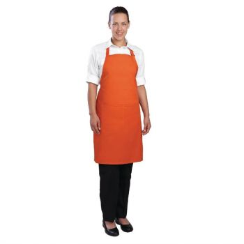 Chef Works halterschort oranje