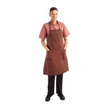 Chef Works Urban Dorset kort schort roestbruin