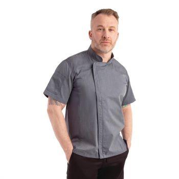 Chef Works Urban Springfield unisex koksbuis met rits korte mouw inktblauw XS