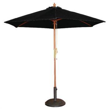 Bolero ronde parasol zwart 2.5 meter