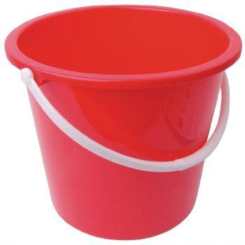 Jantex kunststof emmer 10L rood