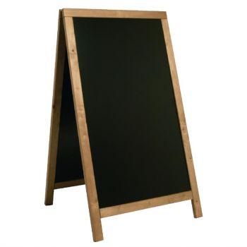 Securit Duplo teakhouten stoepbord 120x68cm