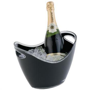 APS acryl champagne bowl klein zwart
