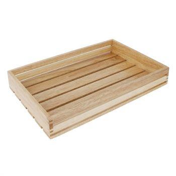 Olympia lage houten serveerkrat