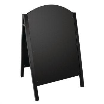 Olympia stoepbord met zwart metalen frame