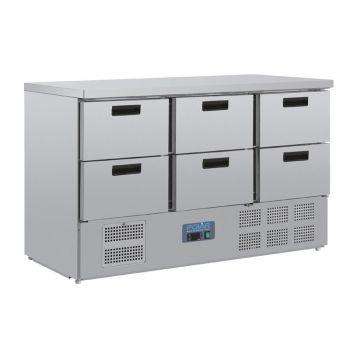 Polar G-serie koelwerkbank met 6 laden
