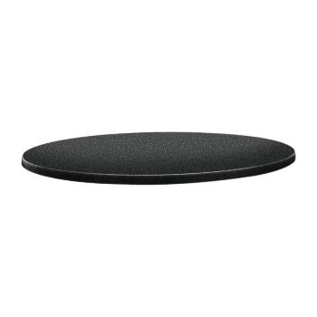 Topalit Classic Line rond tafelblad antraciet 70cm