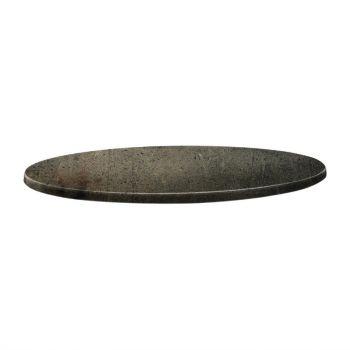 Topalit Classic Line rond tafelblad beton 70cm