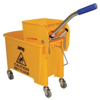 Jantex rolemmer met wringer geel 20L