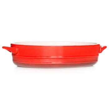 Cosy & Trendy Red Gratin Dish Oval 21x15,5xh5cm