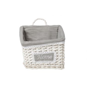 Cosy & Trendy Home Basket Willow White 25x18x16cm