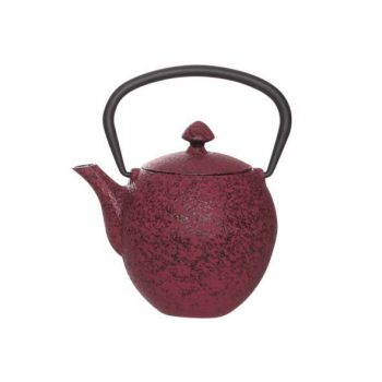 Cosy & Trendy Teapot Cast Iron 0.33l Pear Dark Red