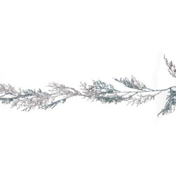 Cosy @ Home Cypress Garland Turq Glitter Mat Silver