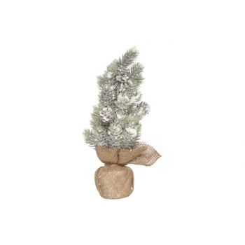 Cosy @ Home Table Tree Fir And Pine Cones H35cm