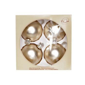 Cosy @ Home Ball Glass Set4 Silk White Mat D8cm