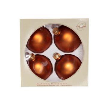 Cosy @ Home Ball Glass Set4 Cognac  Mat D8cm