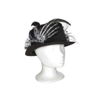 Cosy @ Home Hat With Skeleton Hand Black 29x24xh12cm