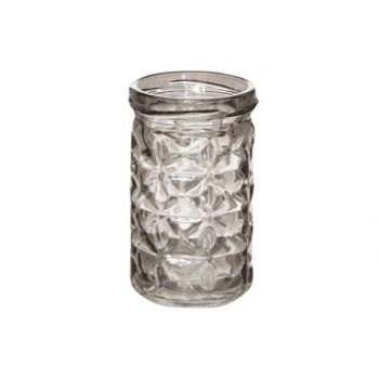 Cosy @ Home Tealightholder Pine Apple Grey Round