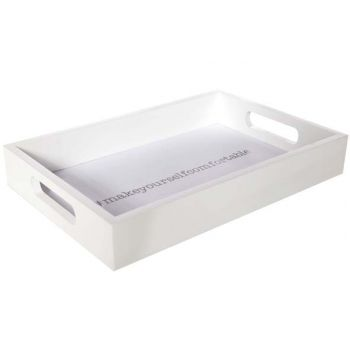 Cosy @ Home Tray Make Yourself... White Rectangular