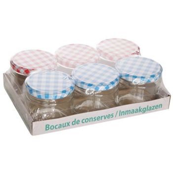 Cosy & Trendy Marmelade Jar Set6 Round Glass 330ml 3xb