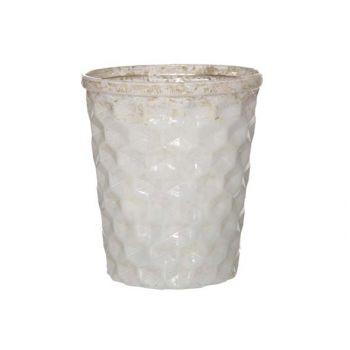 Cosy @ Home Tealightglass White D10xh12.5cm
