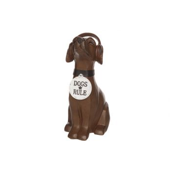 Cosy & Trendy Deco Dog Dogs Rule Brown Resine