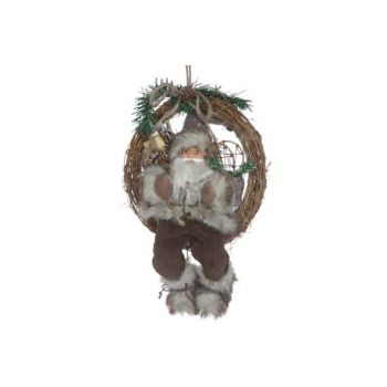 Cosy @ Home Wreath Santa Brown 41x9x30cm