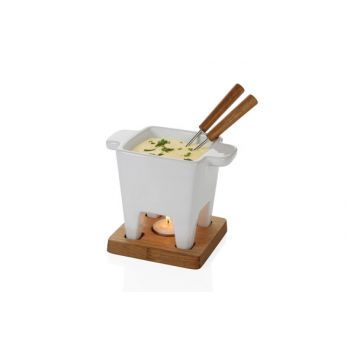 Boska Life Fondue Tapas White On Plate Oak