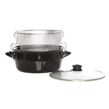 Cosy & Trendy For Professionals 24-12cm Deep Fryer With Basket And Glass