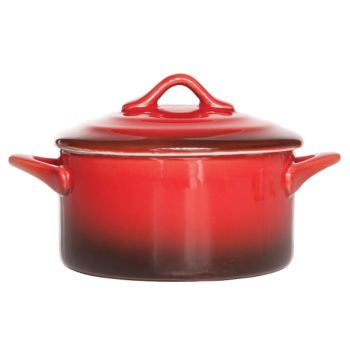 Cosy & Trendy Red Casserole With Lid 0,2l D10xh5cm