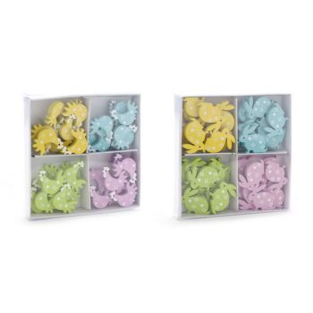 Cosy @ Home Wooden Easter Deco 1.5cm 2 Types Set36