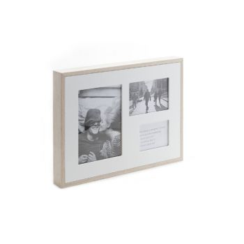 Cosy @ Home Pell Mell 3 Photo Wood Nature White