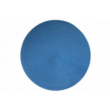 Cosy & Trendy Placemat Rond Blauw D36cm