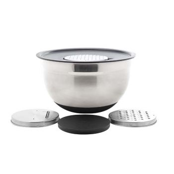 Cosy & Trendy Nero Vegetable Bowl With 3  Graters