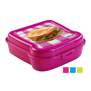 Hega Hogar Sandwich Box 5x13,8x13,8cm 3 Types