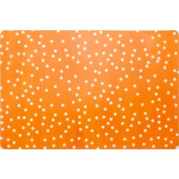 Cosy & Trendy Peva Printed Placemat Orange Spotted