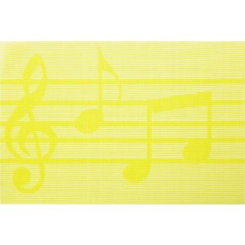 Cosy & Trendy Pvc Woven Placemat Green Musical Notes