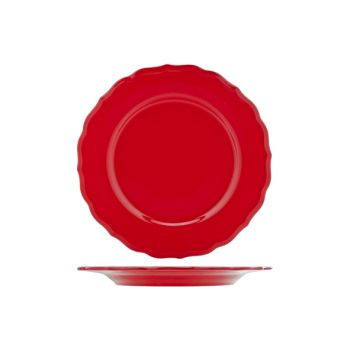 Cosy & Trendy Juliet Red Plate Service Bright D28cm