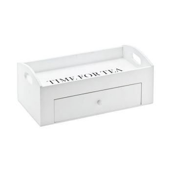 Cosy @ Home Tray White Wood 30x16xh11,5cm Time For T